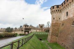 Gradara slott Arkivfoton
