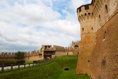 Gradara slott i Rimini Arkivfoton