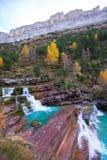 Gradas de Soaso στην κοιλάδα Πυρηναία Huesca SP Ordesa ποταμών Arazas Στοκ εικόνες με δικαίωμα ελεύθερης χρήσης