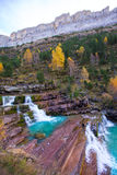 Gradas de Soaso in Arazas river Ordesa valley Pyrenees Huesca Sp Royalty Free Stock Images