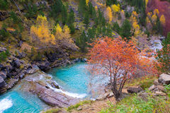 Gradas de Soaso in Arazas river Ordesa valley Pyrenees Huesca Sp Stock Photography