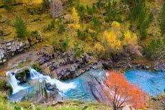 Gradas de Soaso in Arazas river Ordesa valley Pyrenees Huesca Sp Stock Image