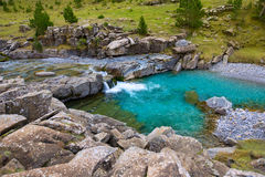 Gradas de Soaso in Arazas river Ordesa valley Pyrenees Huesca Sp Royalty Free Stock Photo