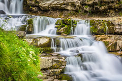 Gradas de Soaso Cascade en parc national espagnol Ordesa a Photo stock