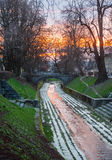 Gradascica river, Ljubljana, Slovenia Stock Images