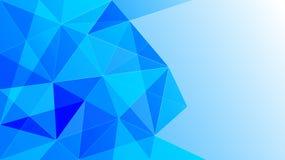 Gradated Błękitny tło z Niskim Poli- wzorem ilustracja wektor