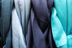 Gradation colorée bleue de coton Images libres de droits