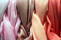 Gradation colorée de coton Photographie stock libre de droits