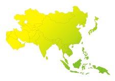 Gradation continente asiatique illustration de vecteur