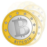 Gradation de Bitcoin Images stock