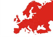 Gradation de continent de l'Europe illustration libre de droits