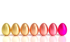 Gradation easter eggs Stock Image