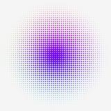 Gradation pointillée par image tramée colorée Image stock