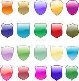 Gradation shield design set Royalty Free Stock Images