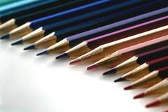 Gradazione colorata della matita Fotografia Stock