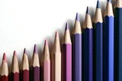 Gradazione colorata della matita Fotografia Stock Libera da Diritti