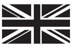 Gradazione di grigio BRITANNICA della bandiera Fotografia Stock