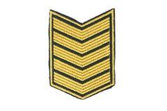 Gradbeteckning av den militära rangen royaltyfri fotografi
