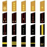 Gradbeteckning av den ryska armén stock illustrationer