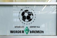 Gradbeteckning av klubban för fotboll för WErder Bremen premiärliga royaltyfria bilder