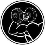 Gradbeteckning för stark arm vektor illustrationer
