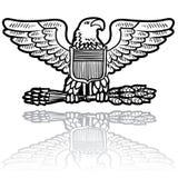 Gradbeteckning för US-arméörn Fotografering för Bildbyråer