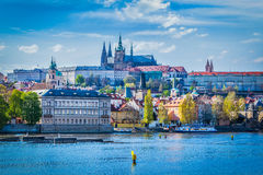 Gradchany, Prague Castle and St. Vitt Cathedral Royalty Free Stock Photos