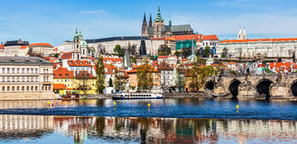Gradchany Prague Castle and St. Vitus Cathedral Stock Images