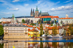 Gradchany Prague Castle and St. Vitus Cathedral Royalty Free Stock Images