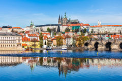 Gradchany Prague Castle and St. Vitus Cathedral Royalty Free Stock Photo
