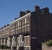 Grade 2 listed houses in Liverpool UK Royalty Free Stock Photos