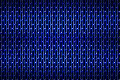 Grade azul do cromo Fundo do metal Foto de Stock Royalty Free