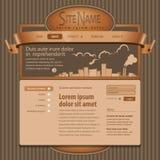 Grade cinzenta do molde 960 do Web site. Foto de Stock Royalty Free
