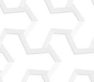 grade 3D listrada tetrapod abstrata branca ilustração royalty free