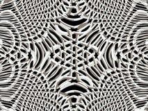 grade 3d Teste padrão psicadélico decorativo Gráfico do Fractal Fotografia de Stock Royalty Free