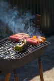 Grade da pimenta e da salsicha Foto de Stock
