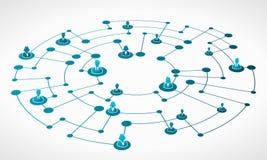 Grade da rede do negócio ilustração do vetor