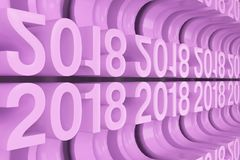 Grade das figuras novas violetas de 2018 anos Foto de Stock Royalty Free