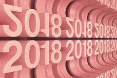 Grade de figuras novas vermelhas de 2018 anos Imagem de Stock Royalty Free