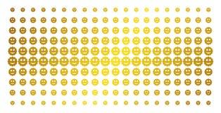 Grade de intervalo mínimo dourada sorrida da etiqueta ilustração do vetor