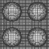 Grade de linhas dinâmicas distorcidas com esferas ilustração do vetor
