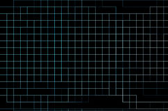 Grade de néon no fundo preto Imagens de Stock