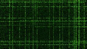 Grade de partículas de incandescência verdes ilustração stock