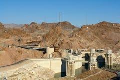 Grade de potência elétrica da planta de Hoover Damb Fotografia de Stock