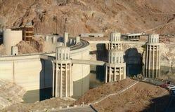 Grade de potência elétrica da planta de Hoover Damb Imagem de Stock