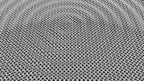 Grade de superfície abstrata DOF da onda do metal capaz de dar laços video estoque