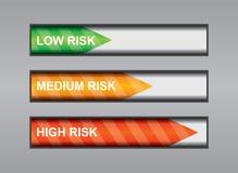 Grade der Gefahr Stockfoto