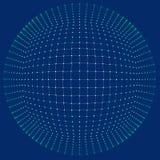 Grade do fundo 3d Wireframe futurista da rede do fio da tecnologia do Ai da tecnologia do Cyber Inteligência artificial Segurança ilustração do vetor