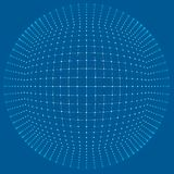 Grade do fundo 3d Wireframe futurista da rede do fio da tecnologia do Ai da tecnologia do Cyber Inteligência artificial Segurança Fotografia de Stock Royalty Free