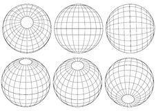 Grade do globo - vetor Imagem de Stock